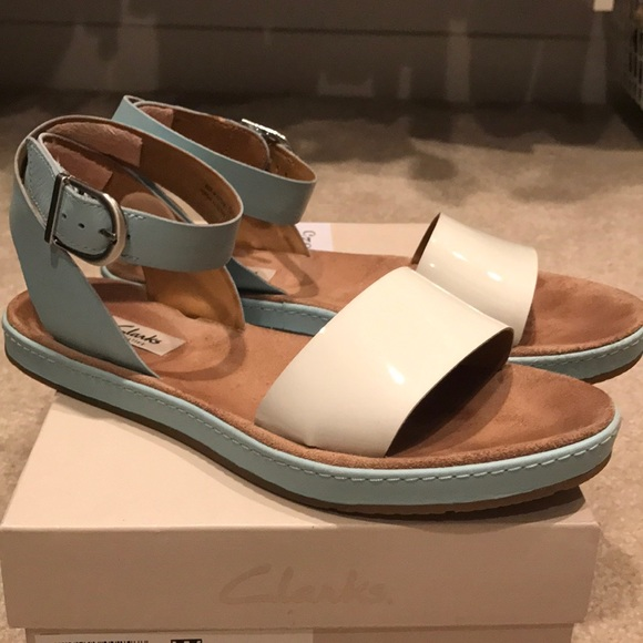 2f2eda7eb Clarks Romantic Moon Sandals in Duck Egg Blue. M 5a9b0860c9fcdf2b9d33f306